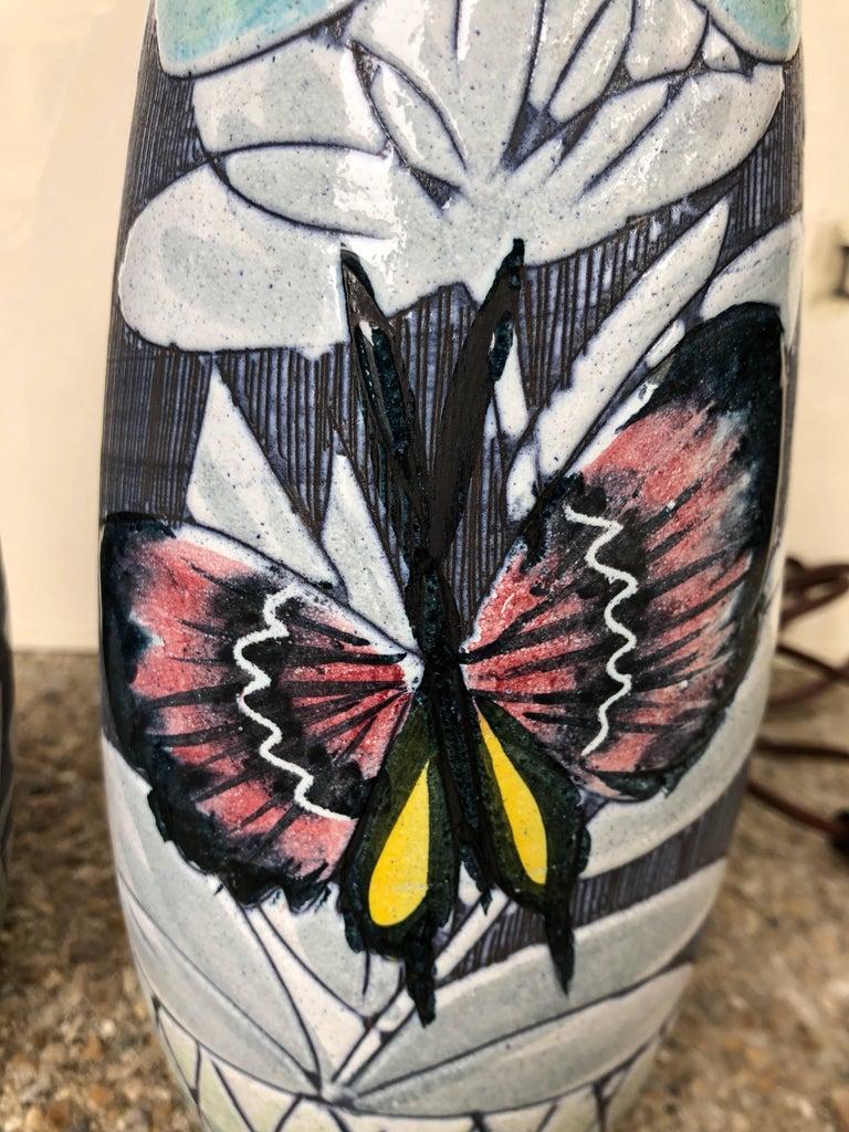 Pair of Hoganas Keramik Studio Table Lamps For Sale 1