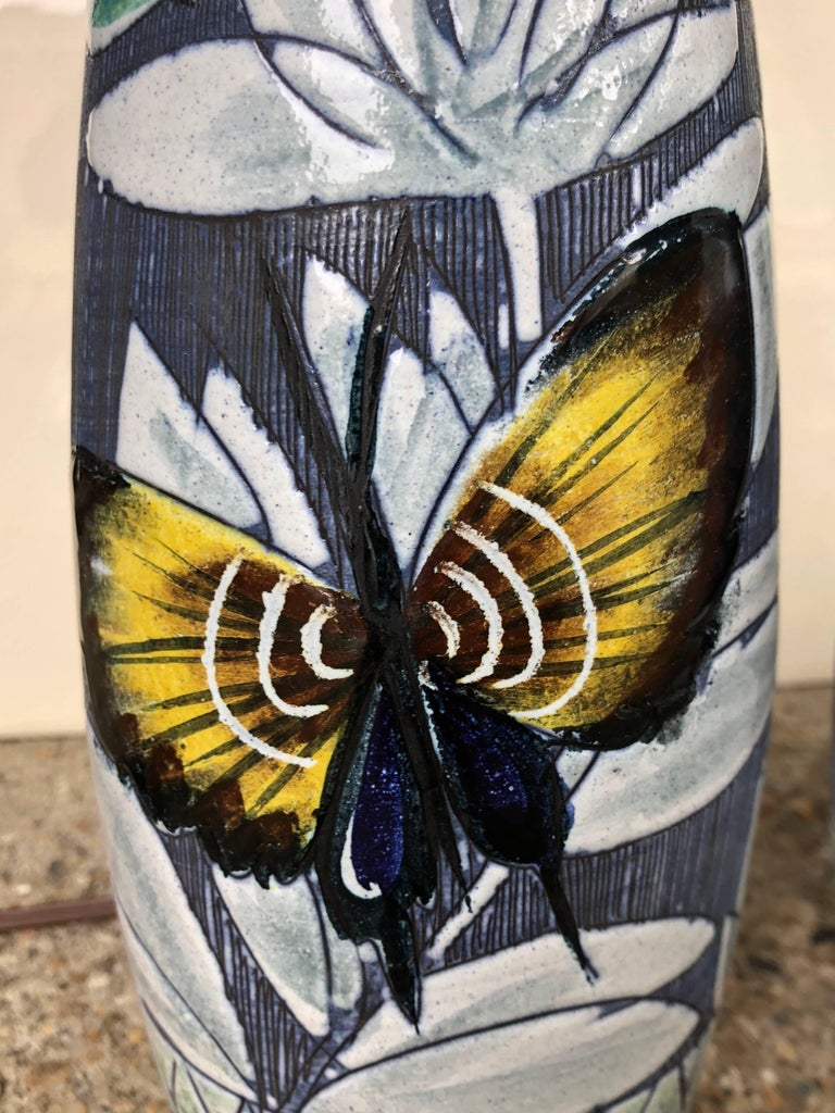 Pair of Hoganas Keramik Studio Table Lamps For Sale 2