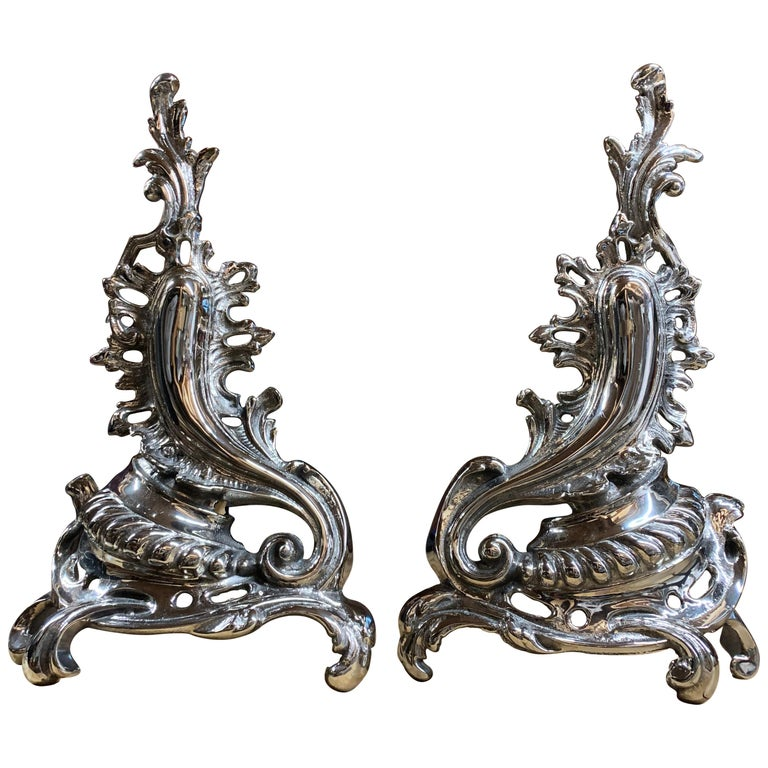 Pair of Hollywood Andirons For Sale