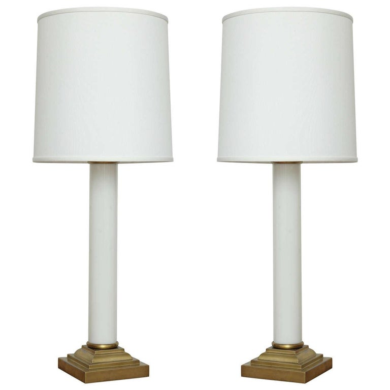 Pair of Hollywood Glamour 1930s Side Lamp For Sale