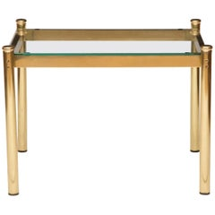 Pair of Hollywood Regency Brass and Glass Coffee Table