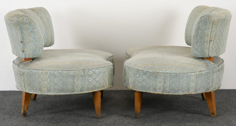 Pair of Hollywood Regency Chairs, 1940s For Sale 4