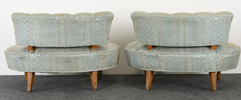 Pair of Hollywood Regency Chairs, 1940s For Sale 5