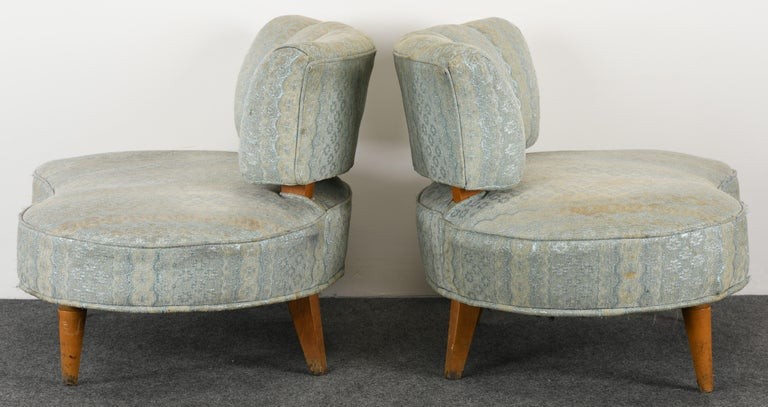 Pair of Hollywood Regency Chairs, 1940s For Sale 6
