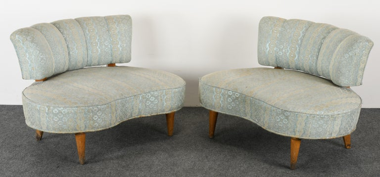 American Pair of Hollywood Regency Chairs, 1940s For Sale