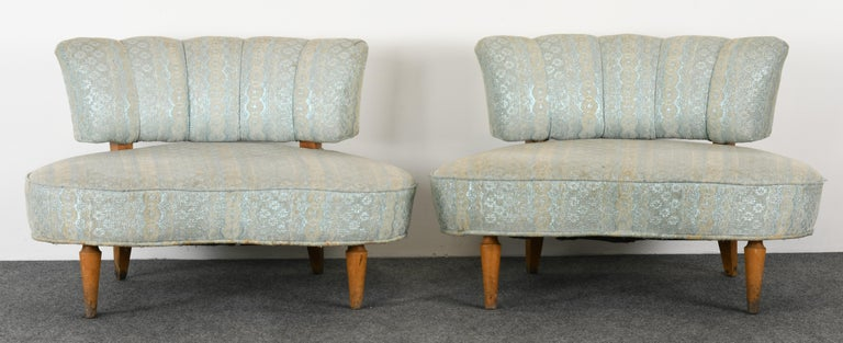 Pair of Hollywood Regency Chairs, 1940s In Good Condition For Sale In Hamburg, PA
