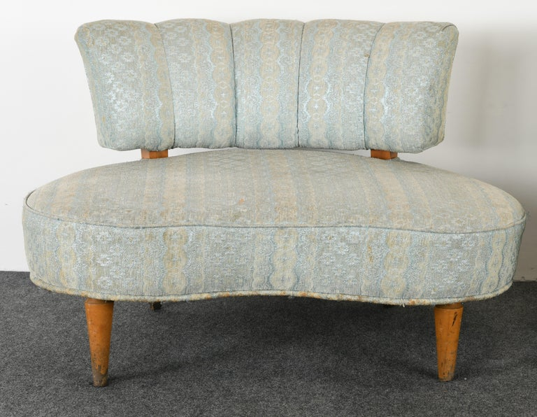 Mid-20th Century Pair of Hollywood Regency Chairs, 1940s For Sale