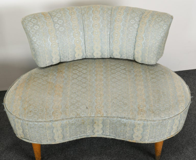 Pair of Hollywood Regency Chairs, 1940s For Sale 1