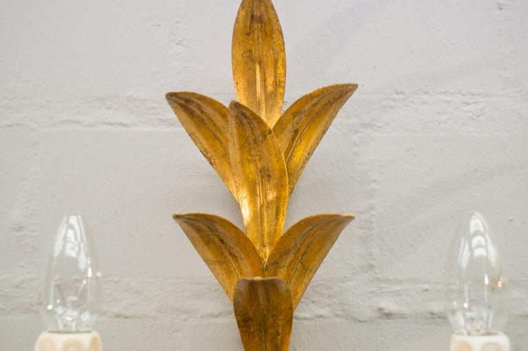 Pair of Hollywood Regency Double Wall Lights by Hans Kögl, Germany, 1970s For Sale 2