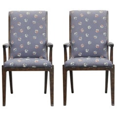 Pair of Hollywood Regency Mastercraft Captian Chairs Designed by William Doezema