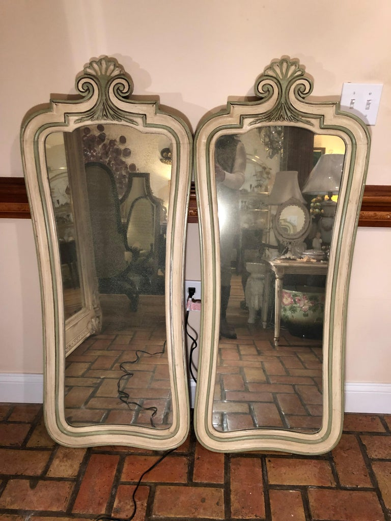 American Pair of Hollywood Regency Mirrors For Sale
