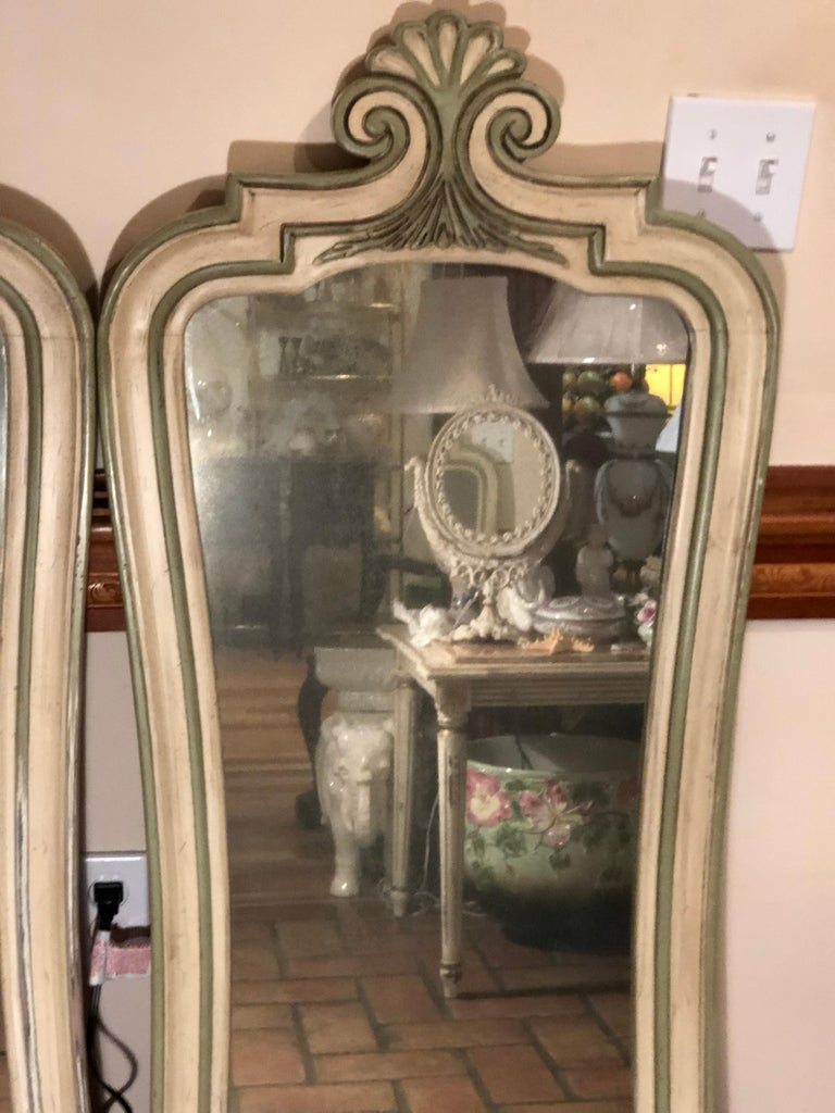 Pair of Hollywood Regency Mirrors For Sale 1
