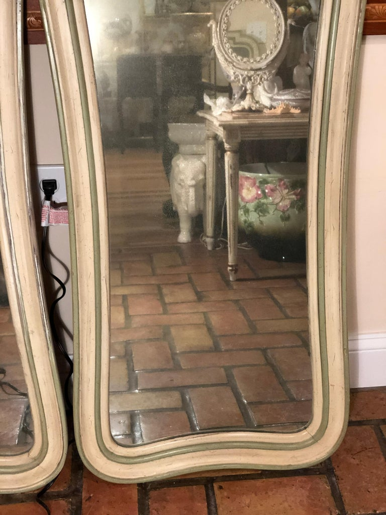 Pair of Hollywood Regency Mirrors For Sale 2