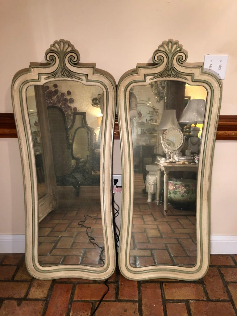 Pair of Hollywood Regency Mirrors For Sale 8