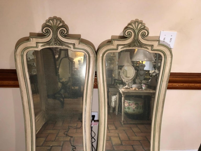 Pair of Hollywood Regency Mirrors For Sale 9