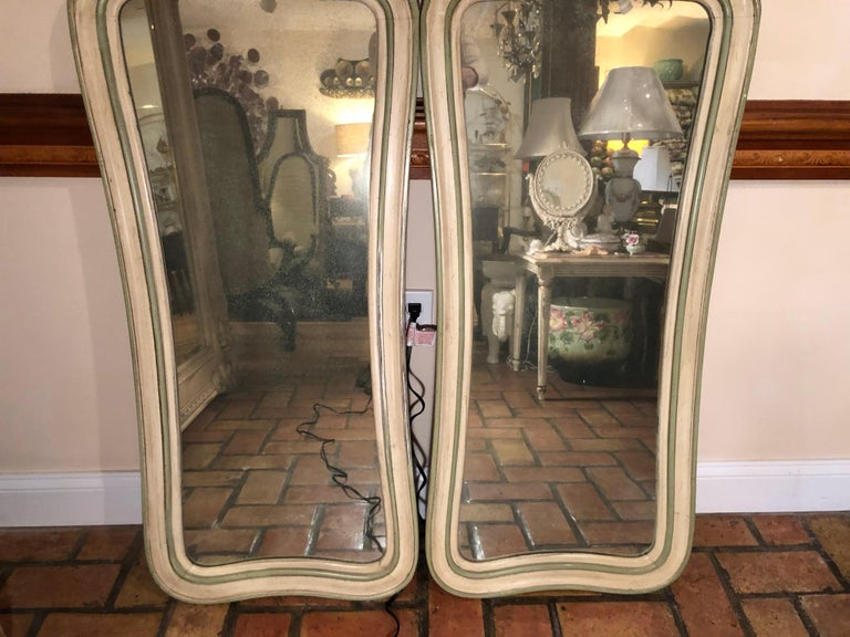 Pair of Hollywood Regency Mirrors For Sale 10