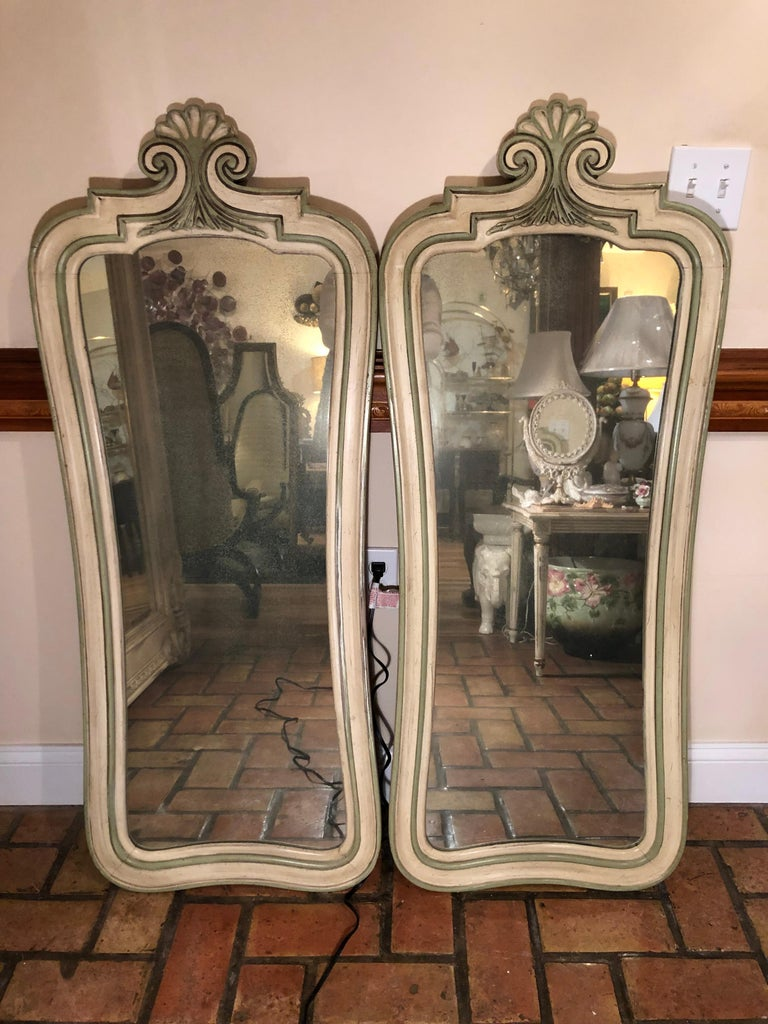 Pair of Hollywood Regency Mirrors For Sale 14