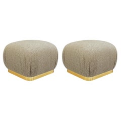 Pair of Hollywood Regency Poufs or Ottomans after Karl Springer by Weiman
