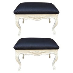 Pair of Hollywood Regency Style Benches