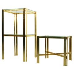 Pair of Hollywood Regency Style Side Tables, 1970s