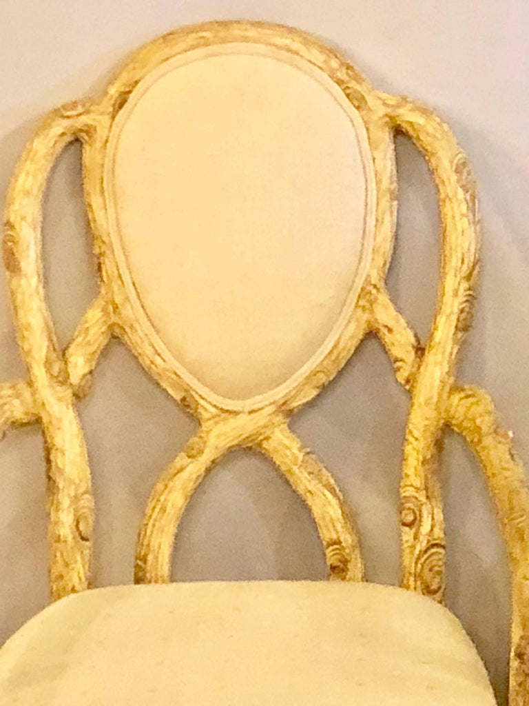 Pair of Hollywood Regency Style Tree Trunk Form Designed Arm / Desk Chairs For Sale 1