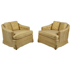 Pair of Hollywood Regency Tomlinson Parkway Terrace Lounge Chairs with Ottoman