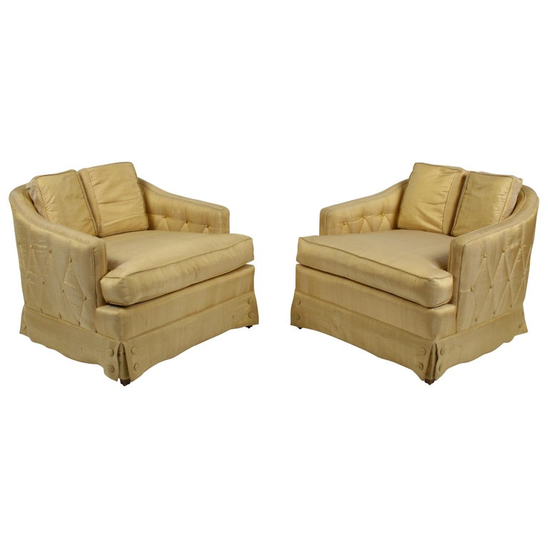 Pair of Hollywood Regency Tomlinson Parkway Terrace Lounge Chairs with Ottoman For Sale