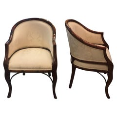 Pair of Hollywood Regency Tub Chairs