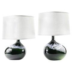 Pair of Holmegaard Lamps by Per Lutken, Denmark, 1975