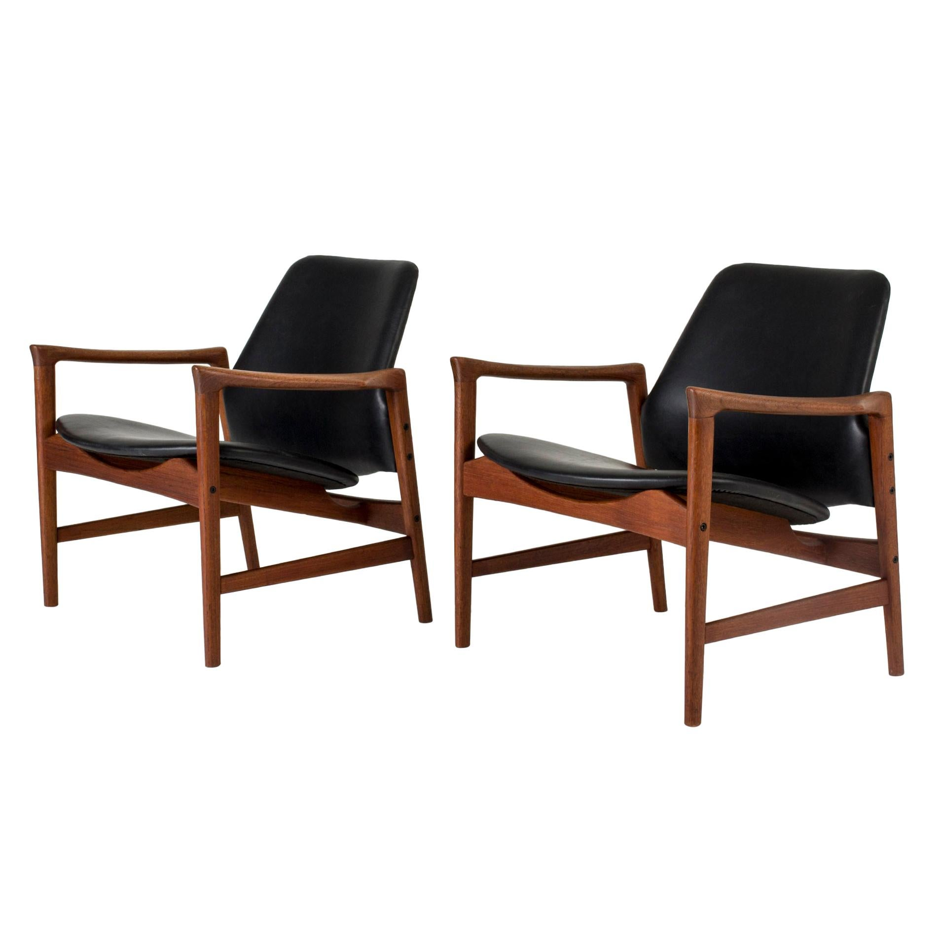 """Pair of """"Holte"""" Lounge Chairs by Ib Kofod Larsen"""