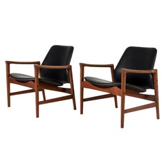 "Pair of ""Holte"" Lounge Chairs by Ib Kofod Larsen"