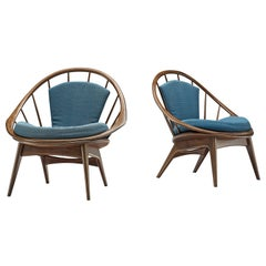 Pair of 'Hoop' Easy Chairs by Ib Kofod-Larsen, 1960s
