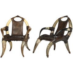 Pair of Horn Chairs