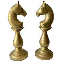 "Pair of ""Horse"" Head Newel Post Tops"