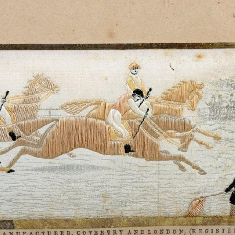 Pair of Horse Racing Stevengraphs, 19th Century In Good Condition For Sale In London, GB