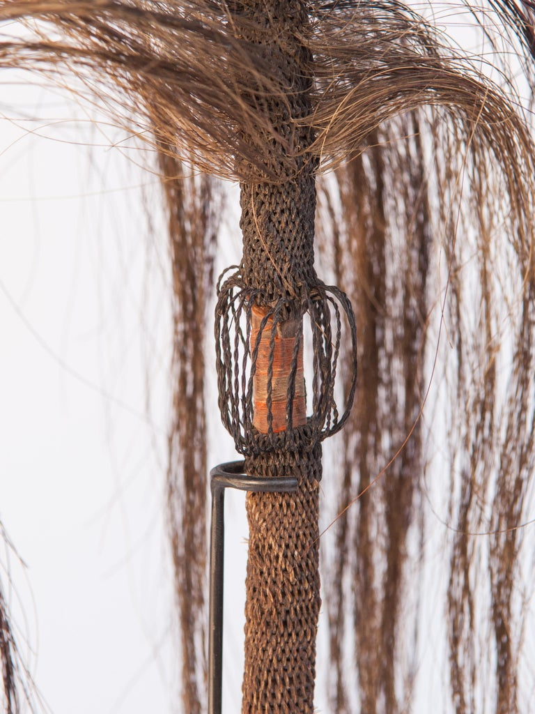 Pair of Horsehair Fly Whisks, Yi of Yunnan, China, Early to Mid-20th Century For Sale 3