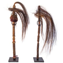 Pair of Horsehair Fly Whisks, Yi of Yunnan, China, Early to Mid-20th Century