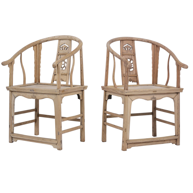 Pair of Horseshoe Chairs