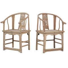 Pair of Horseshoe Chairs