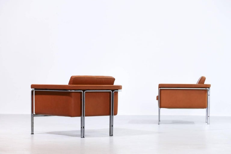 German Pair of Horst Brüning Lounge Chairs for Alfred Kill International For Sale
