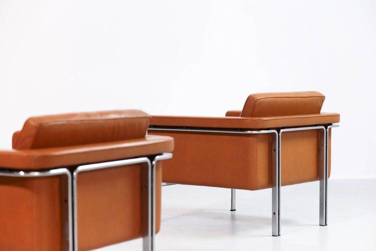 20th Century Pair of Horst Brüning Lounge Chairs for Alfred Kill International For Sale