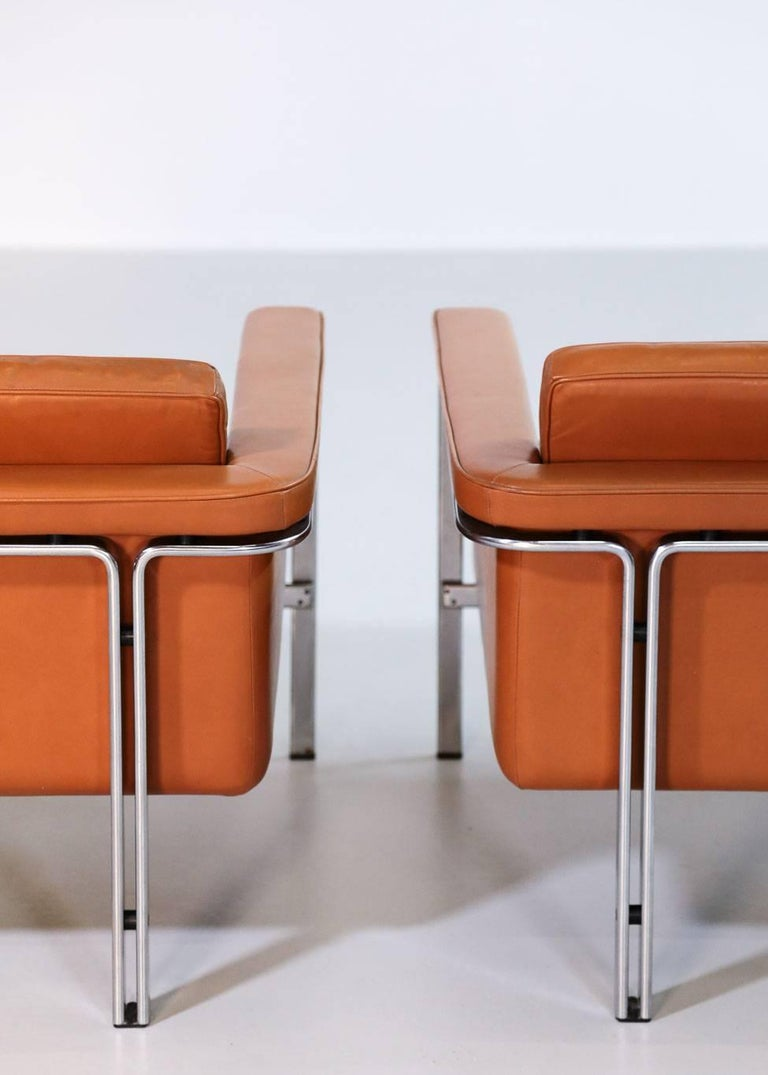 Pair of Horst Brüning Lounge Chairs for Alfred Kill International For Sale 1