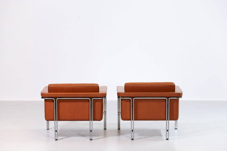 Pair of Horst Brüning Lounge Chairs for Alfred Kill International For Sale 2