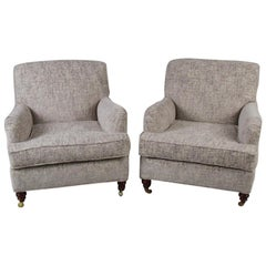 Pair of Howard & Sons Bridgewater Style Lounge Chairs