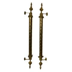 Pair of Huge Column Style Entrance Door Handles