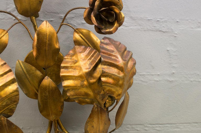 Pair of Huge Hollywood Regency Double Wall Lights by Hans Kögl, Germany, 1970s For Sale 4