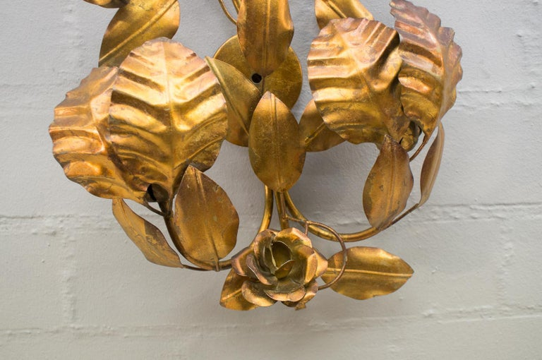 Pair of Huge Hollywood Regency Double Wall Lights by Hans Kögl, Germany, 1970s For Sale 7