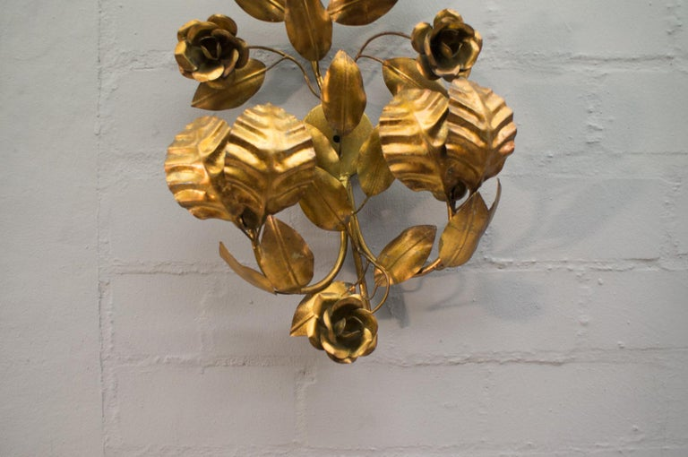 Pair of Huge Hollywood Regency Double Wall Lights by Hans Kögl, Germany, 1970s For Sale 8