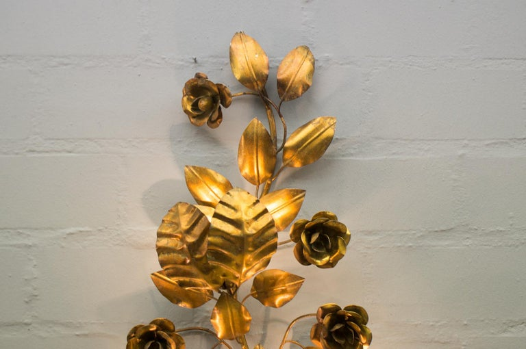 Pair of Huge Hollywood Regency Double Wall Lights by Hans Kögl, Germany, 1970s For Sale 10