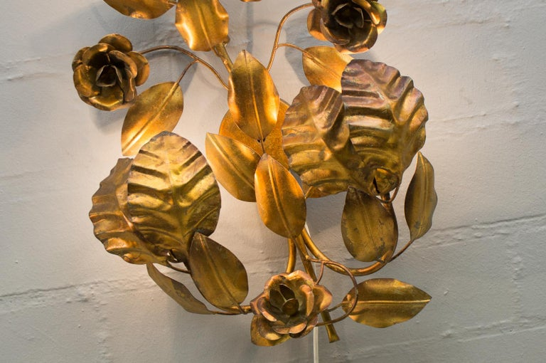 Pair of Huge Hollywood Regency Double Wall Lights by Hans Kögl, Germany, 1970s For Sale 11